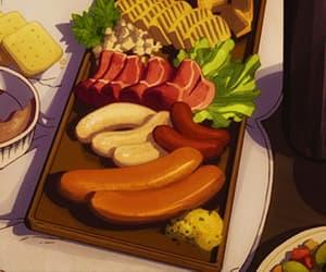 gif, salads, and anime foods image
