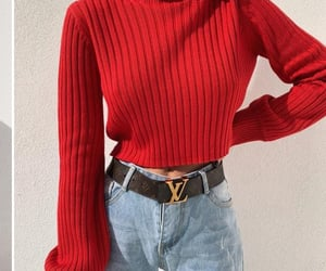 outfit, red, and blue image