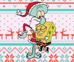 background, sponge bob, and christmas image