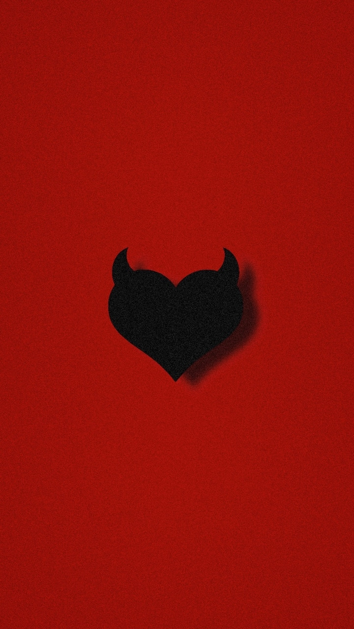 Wallpaper Red Heart Black Blackheart On We Heart It