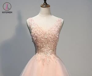 prom dresses, prom gowns, and v neck homecoming dress image