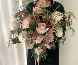 aesthetic, bouqet, and flowers image