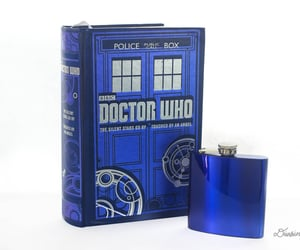 bibliophile, doctor who, and flask image