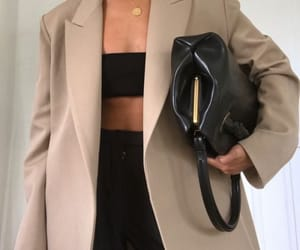 black, handbag, and blazer image