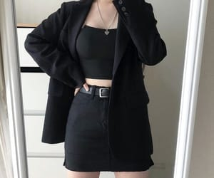 outfit, black, and clothes image