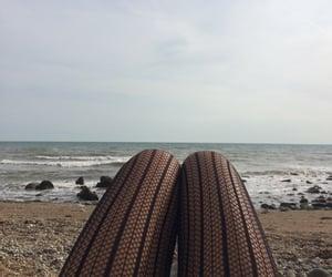 beach, black, and blue image