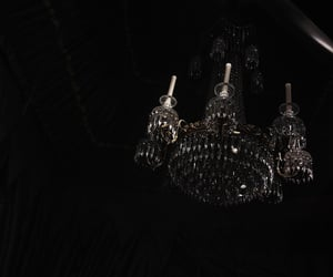aesthetic, black, and chandelier image