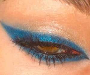 blue, glitter, and green eyes image