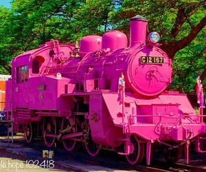 japan, locomotive, and pink image