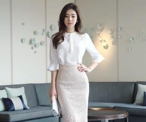 blouse, elegant, and heels image