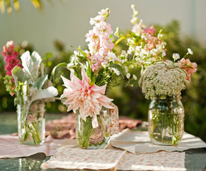 decor, flowers, and jars image