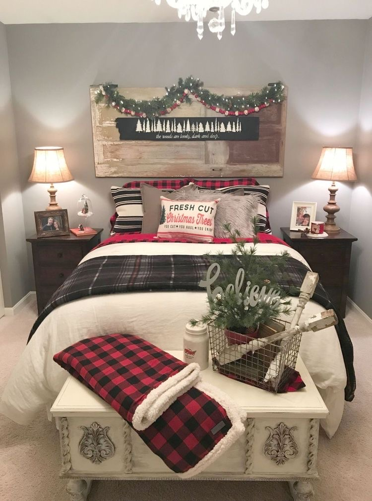 Cute Christmas Bedroom Decoration On We Heart It