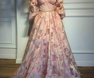 pink prom dress, vestido de festa, and elegant prom dress image