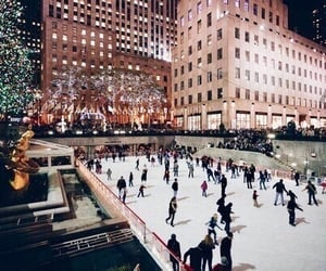 winter, christmas, and new york image