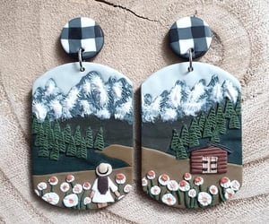 polymer clay, clay earrings, and jewelry fashion image