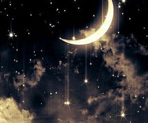 sky, stars, and moon image