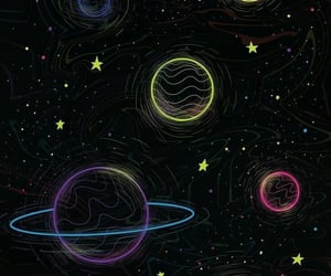 wallpaper, stars, and planet image