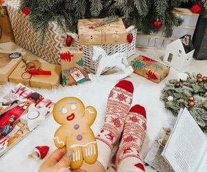 christmas lights, christmas tree, and cozy image