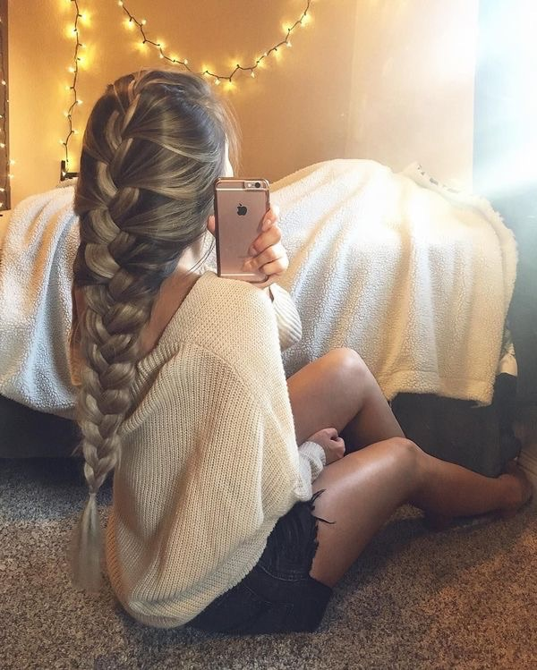 Cute French Braid Hairstyle To Your Weekend Hair Game