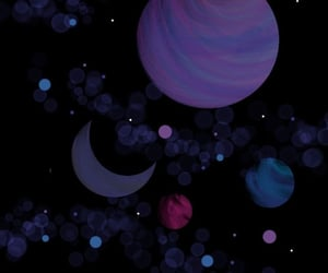 background, colors, and planets image