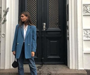 blazer, boots, and fashion image