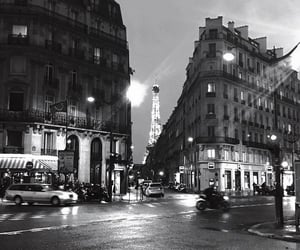 paris, black and white, and beautiful image