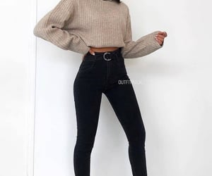 style, sweater, and fall image