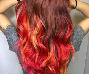 orange hair, red hair, and fire hair color image