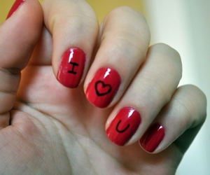 I Love You, nails, and cute image
