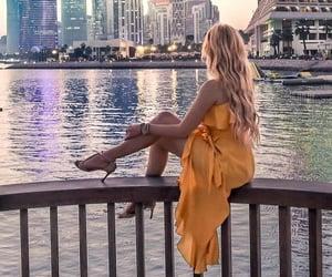 blonde, lake, and girl image