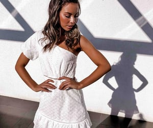 cute dress, dres, and white image