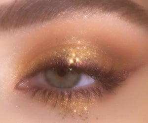 gold and makeup image