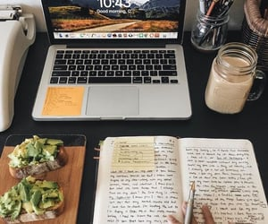 college, healthy, and journaling image