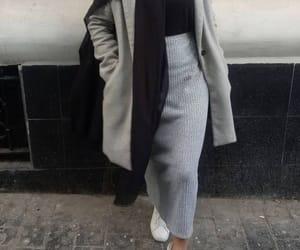 skirt, hijab, and black image