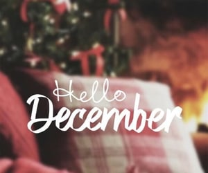 december, mois, and hello image
