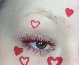 aesthetic, red, and hearts image