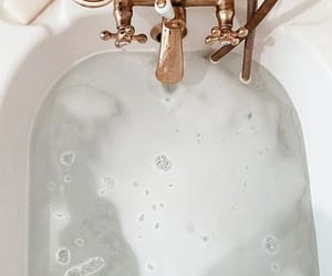 bath, white, and water image