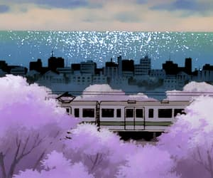 aesthetic, gif, and anime train image
