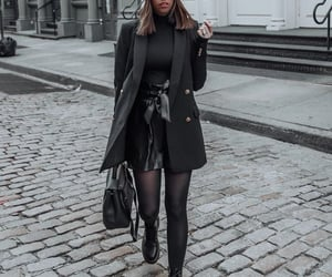 blogger, drmartens, and all black image