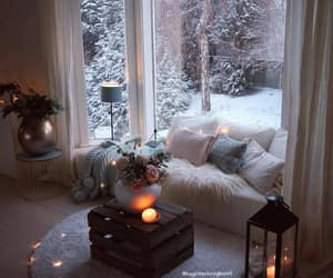 home, winter, and decor image