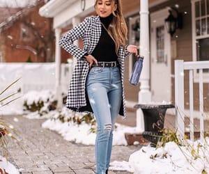 fashion, woman girl, and jacket coat image