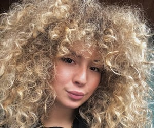 blonde, curlyhair, and luxory image