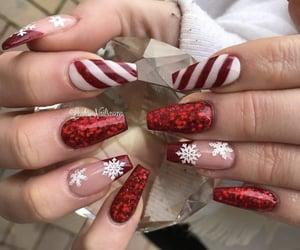 christmas, nails, and snowflake image