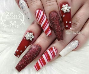 acrylics, red, and candy cane image