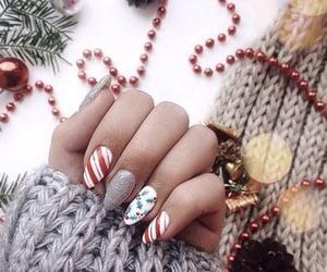 christmas, nails, and holidays image