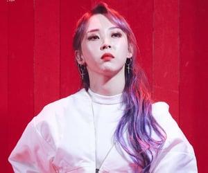 kpop, purple hair, and 문별 image