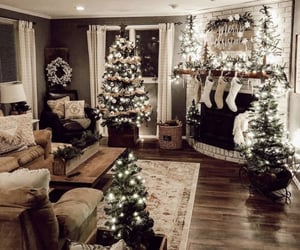 christmas, home, and christmas tree image