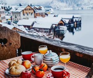 breakfast, chalet, and coffee image