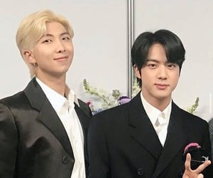jin, namjoon, and bts image