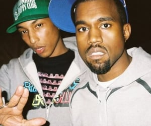kanye west, Pharrell Williams, and pharrell image